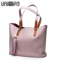 Nouveau style femmes sac Européen et Américain Style Gland shopping sac Top qualité en cuir véritable sacs à bandoulière