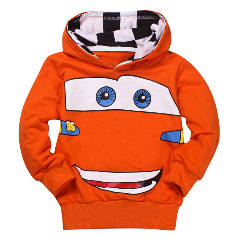 Cheap Sale Fashion Boys Girls Cartoon Car Spring Autumn Sport Hoodies T Shirt Outerwear Children Kids School Outfits Clothing