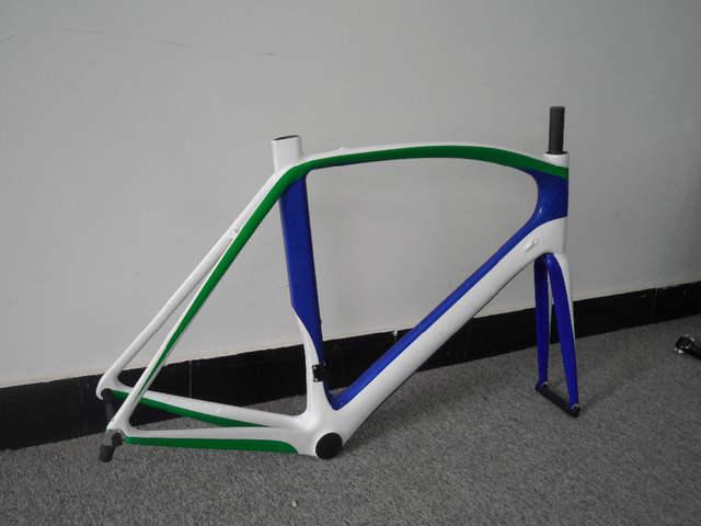 9977d3266 placeholder China barato melhor qualidade OEM pintura verde azul branco  bicicleta de estrada brilhante quadro