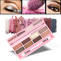 8 Color Eye Shadow Makeup Palette Mineral Glitter Eyeshadow Cosmetic Kit Smoky Metallic Earth Color Shadow Powder with Brush