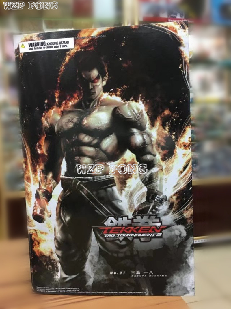 27 CM PLAY Arts Kai Tekken Figure KAZUYA MISHIMA Action Figure PVC Tekken Collectible Model Toy B108 new hot christmas gift 21inch 52cm bearbrick be rbrick fashion toy pvc action figure collectible model toy decoration