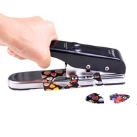 Flanger Guitar Pick Cutter Plectrum Punching Tool Metal DIY Pick Maker Black Gold Silver Guitar Parts and Accessories