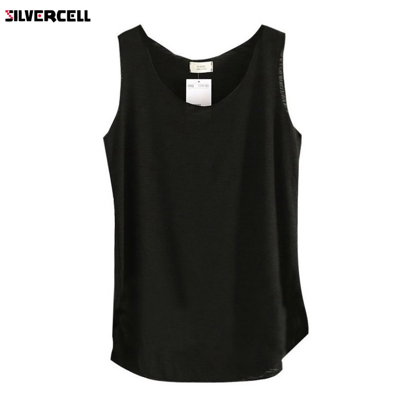 2017 Summer Fitness Sexy T Shirt Women Shirts Vest Cotton Cropped Sleeveless Round Neck Ladies Slim Clothes Femme