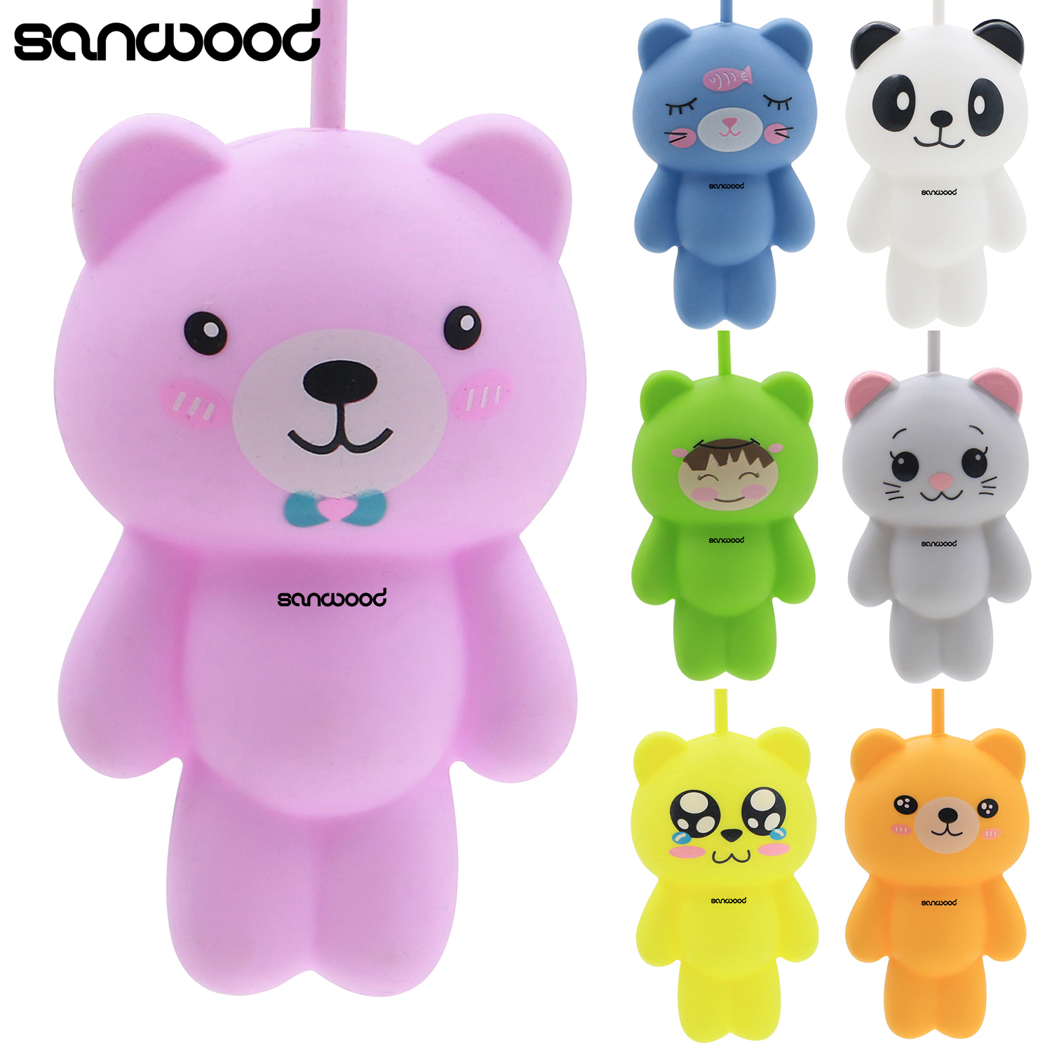 Cute Cartoon Animal Cat Silicone Key Holder Case Bag Wallet Pendant 9XRX полочки для ванной комнаты animal silicone toothbrush holder cute animal silicone toothbrush holder