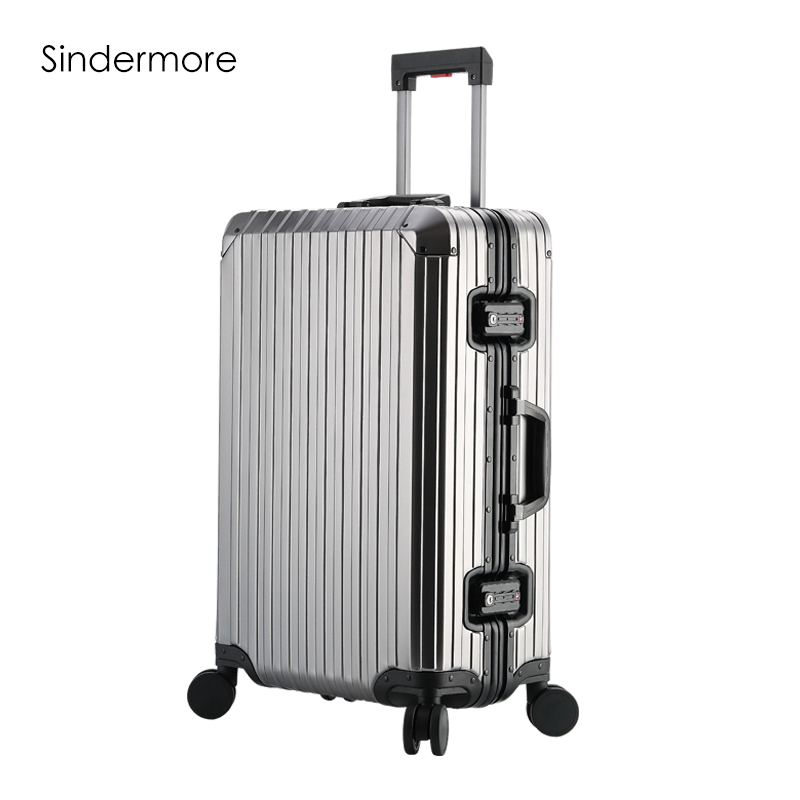 Sindermore Aluminum Luggage Suitcase 20 25 29 Carry On Luggage Hardside Rolling Luggage Travel Trolley Luggage Suitcase