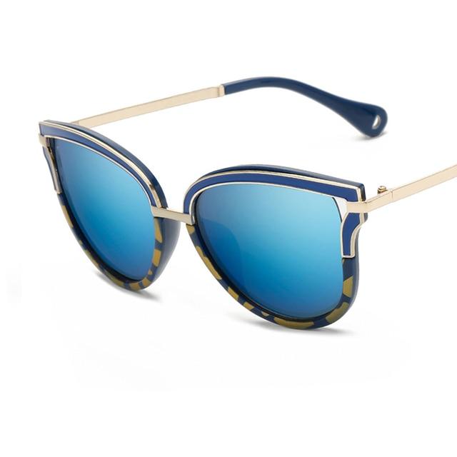 2017 mujeres color ciego Gafas de sol alta calidad marca americanos  europeos mujer Sol Gafas oval ca6997a87e9d