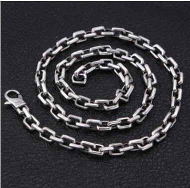 Hommes collier gros colliers argent 925 bijoux chaîne homme 7mm 75 cm