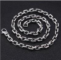 men necklace big necklaces silver 925 jewelry chain man 7mm 75cm