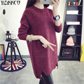 2017 Spring Women Sweater New Fashion Knitted Pullovers High Quality O-Neck Sweaters Pockets Pull Femme Sweter Mujer SZQ115