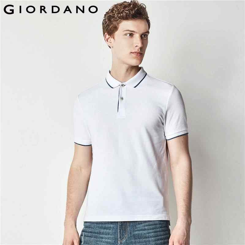 60aa90d2f ... Giordano Men Polo Brand Clothing Short Sleeves Polo Shirt Casual Tops  Camisa Polo Masculina Pique Polos ...
