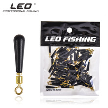 100 Pcs/lot LEO Rotating Float Seat 27933 Large 23g Medium 18g Small 15g Buoy Socket Fishing Gear Pesca Rubber Metal