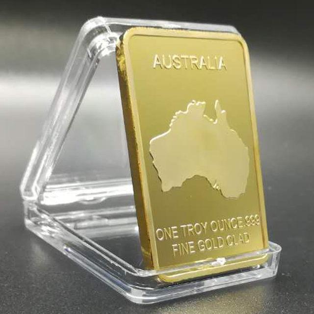 5 Pcs The Rare Endanger Animal Dolphin Badge24k Real Gold Plated Bullion Bar 50 X 28 Mm Australia Souvenir Coin