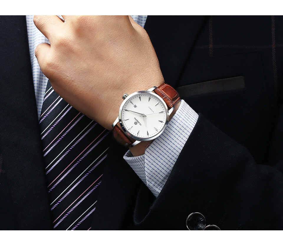 HTB1JewkkYSYBuNjSspfq6AZCpXaI STARKING Automatic Watches Men Stainless Steel Business Wristwatch Leather Fashion 50M Waterproof Male Clock Relogio Masculino