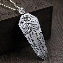 S925 Sterling Silver Retro Men 's Individuality Pendant Thai Silver Eight Diagrams Avoid evil spirits necklace pendant
