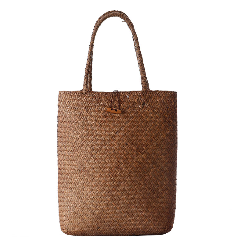 Beach Bag for Summer Big Straw Bags Handmade Woven Tote Women Travel Handbags Designer Vintage Shopping Hand Bags ZQ-106