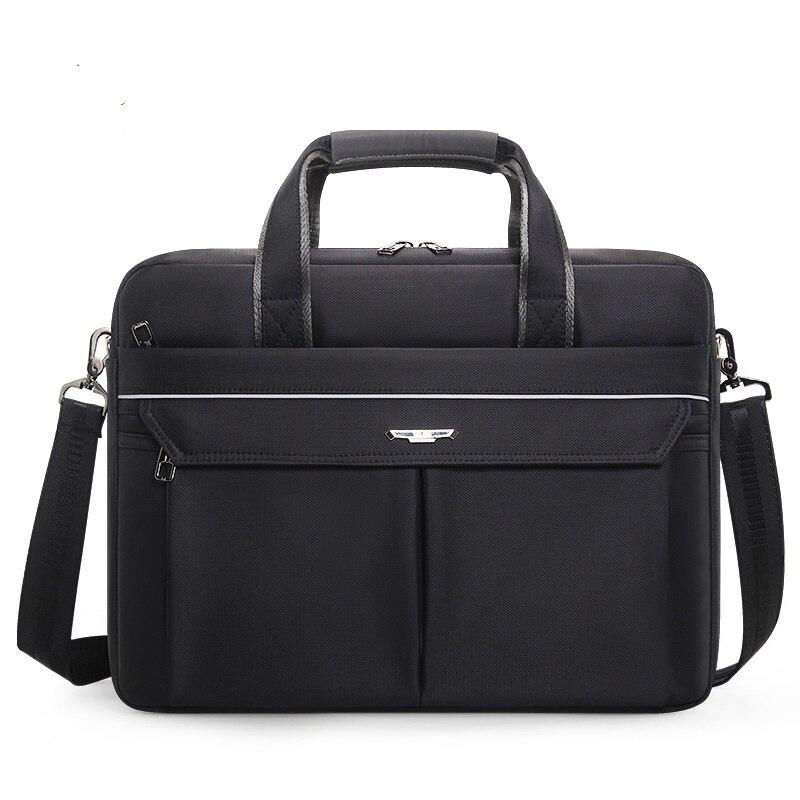 1826 New Laptop Pack Horizontal Computer Handbag Oxford Cloth Waterproof Pack Business Meeting Shoulder Bag File Briefcase