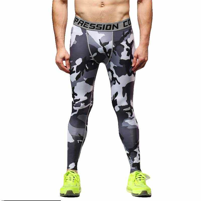 Men Pro Sporting Gymming Quick Dry Workout Compress Legging Bodybuilding Runs Slim Fitness Yogaing Camouflage Clothing Pants