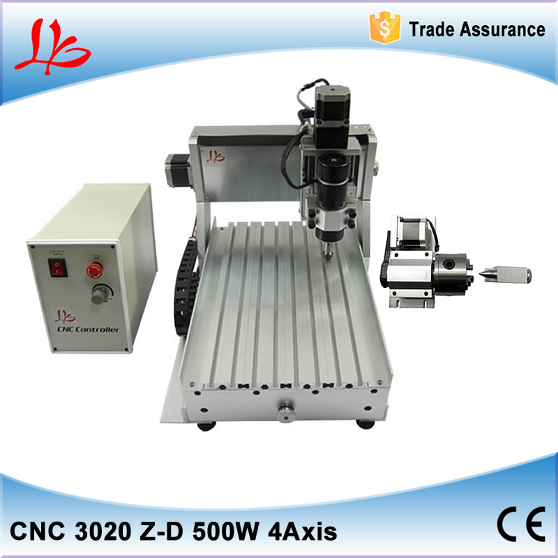 4 axis cnc milling machine 3020 500w spindle for wood arcrylic glass