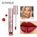 Superventa de maquillaje mejor vendido O.TWO.O de 12 colores, brillo labial impermeable de larga duración y fácil de aplicar, labial mate