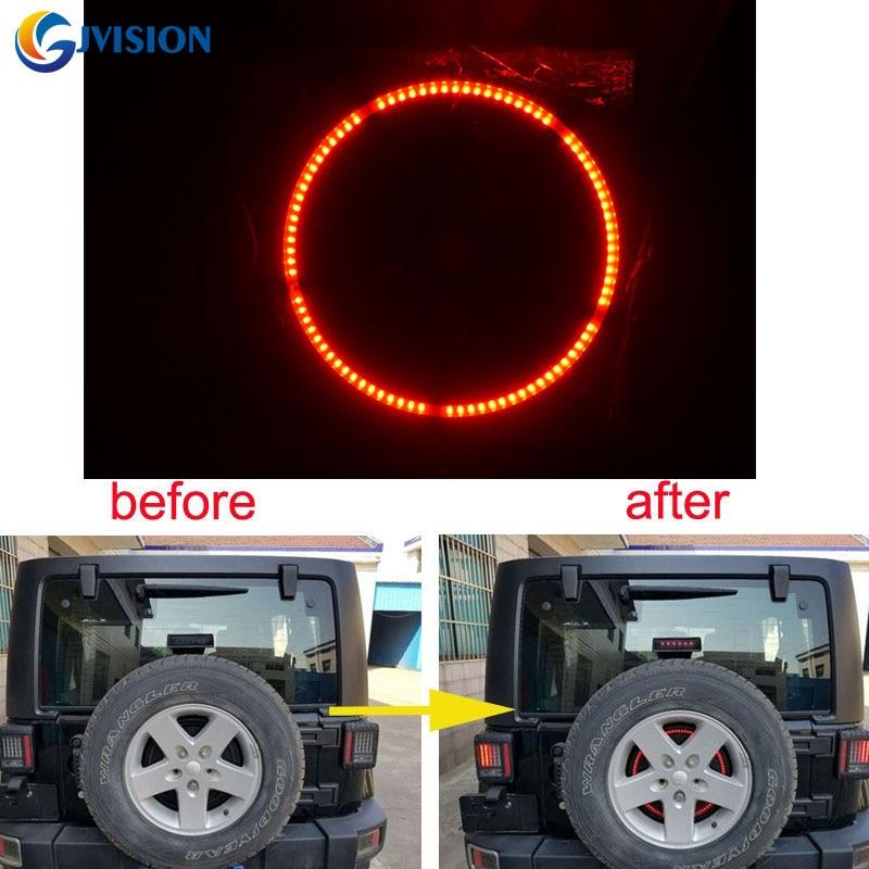 Для джипов легких аксессуаров 3-й запасной тормозных шин светодиодные кольца для 97-17 Jeep Вранглер JK и TJ