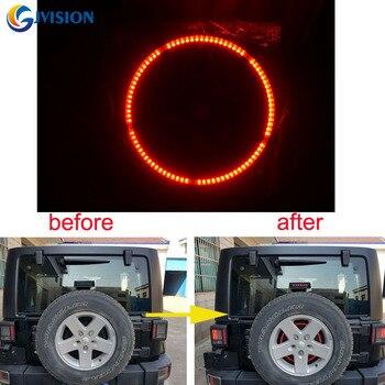 For Jeeps Light Accessories 3rd Spare Tire Brake Light LED Ring for 97-17 Jeep Wrangler JK TJ