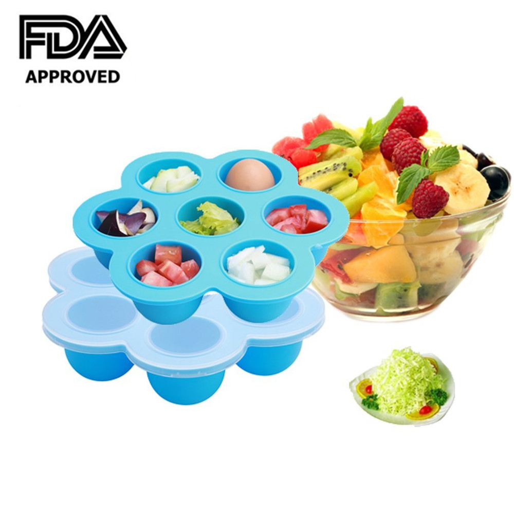 Homemade Baby Food Storage Containers Part - 16: Baby Food Freezer Tray Food Storage Container With Clip On Lid, , For Homemade  Baby Food, Vegetable U0026 Fruit Purees, Ice Cube -in Wine Coolers U0026 Chillers  ...