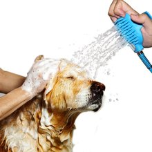 Silicone Pet Dog Bath Brush Sprayer and Scrubber for All Dogs Cats Puppy Bathing Massage Cleaning Pet Grooming Tool