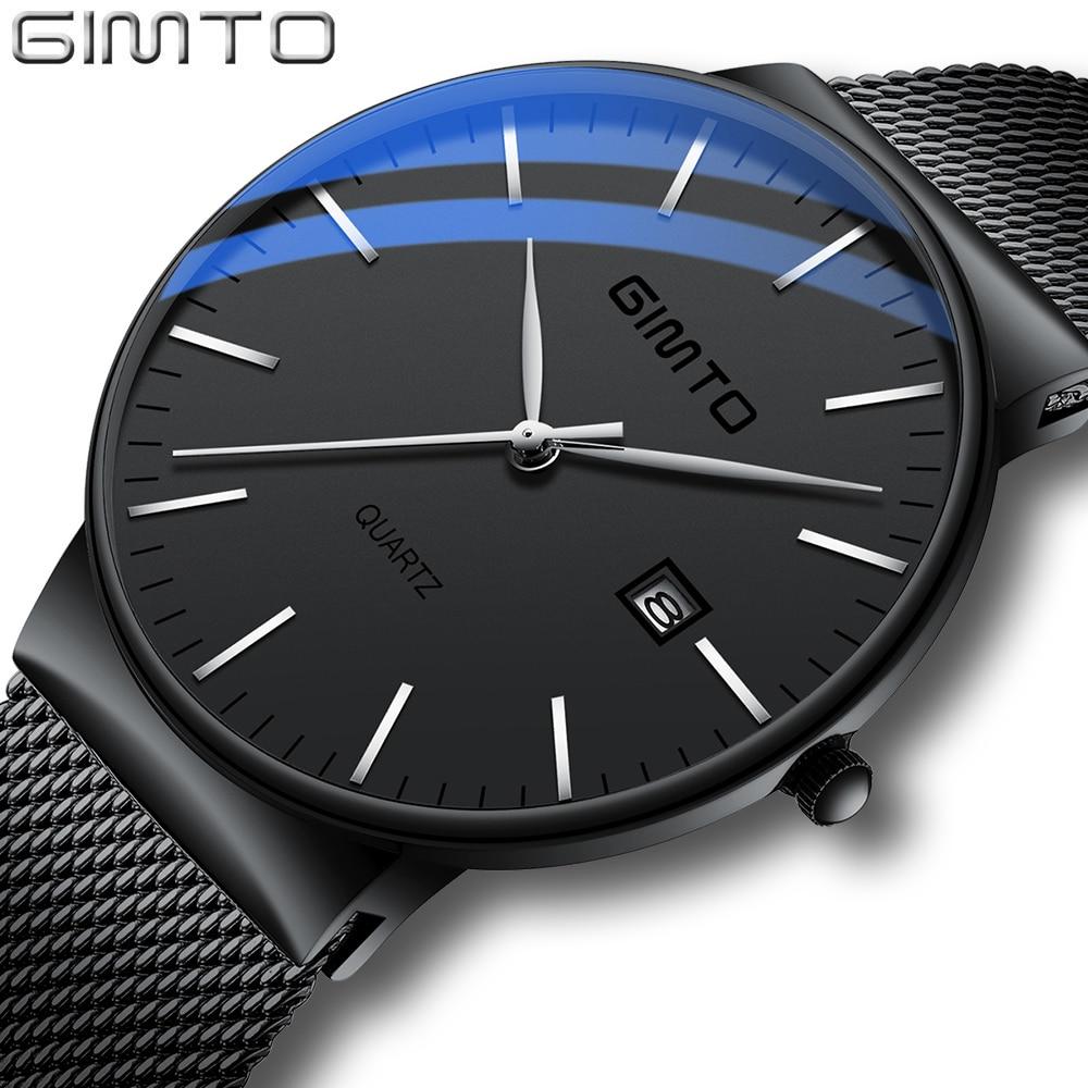Reloj hombre Montre Homme Top Marque De Luxe Montre En Or Hommes Sport Hommes Montres À Quartz Montre-Bracelet Ultra Mince Horloge relogio masculino