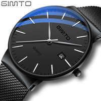 Reloj hombre Reloj de los hombres de marca de lujo de oro Reloj de deporte de los hombres relojes hombre Reloj pulsera de cuarzo Ultra delgado Reloj relogio masculino