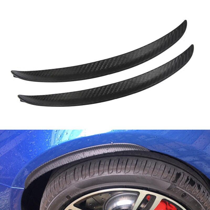 Car Fender Protect Wheel Tire Edge Eyebrow carbon fiber Stickers Fit for Corolla Tiguan Granta Golf Altima X-trail IX45