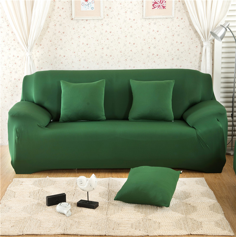 Solid Color Elastic Couch Cover made of Stretchable Material for Singe to 4 Seated Sofa in Living Room 27