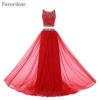 Favordear красный бордовый Кружево Русалка Красный Кружево вечерние платья See Through Назад одежда с длинным рукавом Длинные Вечерние платья