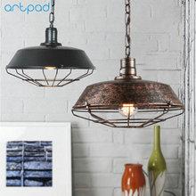 Artpad American Retro Loft Kitchen Pendant Lights 26CM/36CM/46CM Metal Sconce E27 LED Industrial Hanging Lamp Bar Lighting