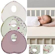 Almohadas плоской позиционер ролл головкой bebe подушку анти сна форма малышей