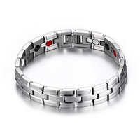 Hot Sale Stainless Steel Magnetic Therapy Bracelet Pain Relief Casual Sporty Women Men Jewelry Healing Energy