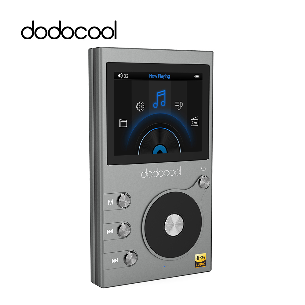 dodocool 8GB Digital Music MP3 HIFI Music Player with 2 LCD Screen Audio Player Voice Recorder