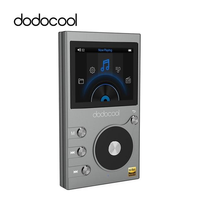 """Dodocool 8GB reproductor de música Digital MP3 HIFI con 2 """"Pantalla LCD reproductor de Audio grabadora de voz Radio FM soporte TF tarjeta SD"""