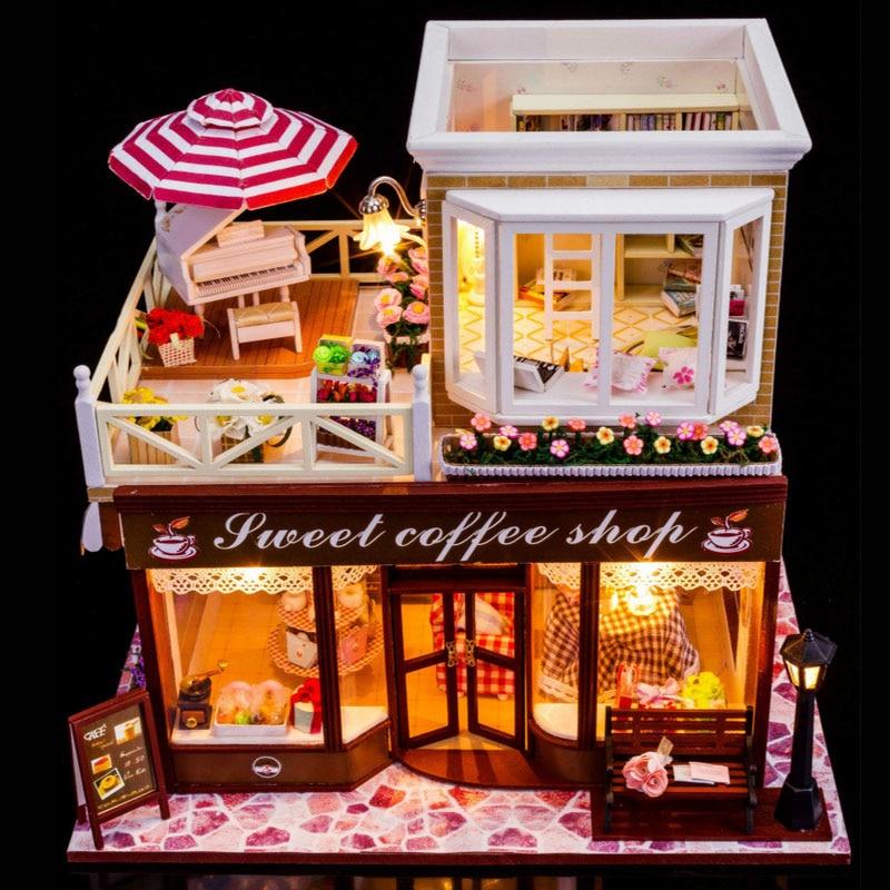 3D stéréo assemblage modèle Puzzle jouets 3D bâtiment modèle bricolage Mini belle maison la saint valentin cadeau d'anniversaire cadeau