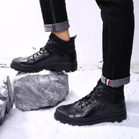 Military leather boots for men Combat bot Infantry tactical boots Autumn Martin Boots Water Proof Winter Ankle Boots shoes k5