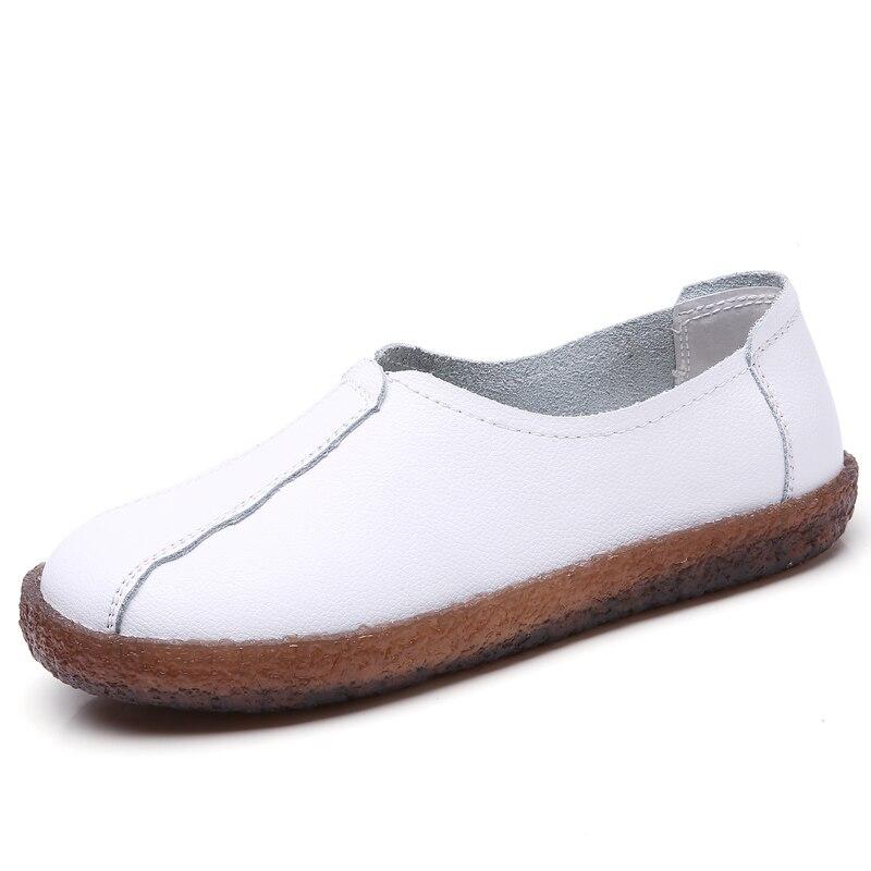 Cuir Dames En 1mwhite Véritable 808white Chaussures 1mblack 808 808black 808 Femmes Plate 2018 Avec forme De Fourrure Femme Mocassins Talon Sneakers qtw16c