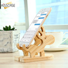 KISSCASE Moose Wood Holder 100% Natural Wooden Cute Phone Tablet Desk Stand Holder Charging Dock Stand For iPhone iPad Samsung