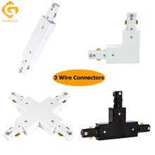 GO OCEAN Track Rail Connector Track Linker 3 Wire I L T Cross Shape Connectors LED SpotLight Connector Rail Connectors цена