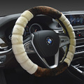 2017 New High-density Thickened Car Plush Steering Wheel Cover Universal New Soft Warm Plush Winter Steering-wheel Cover