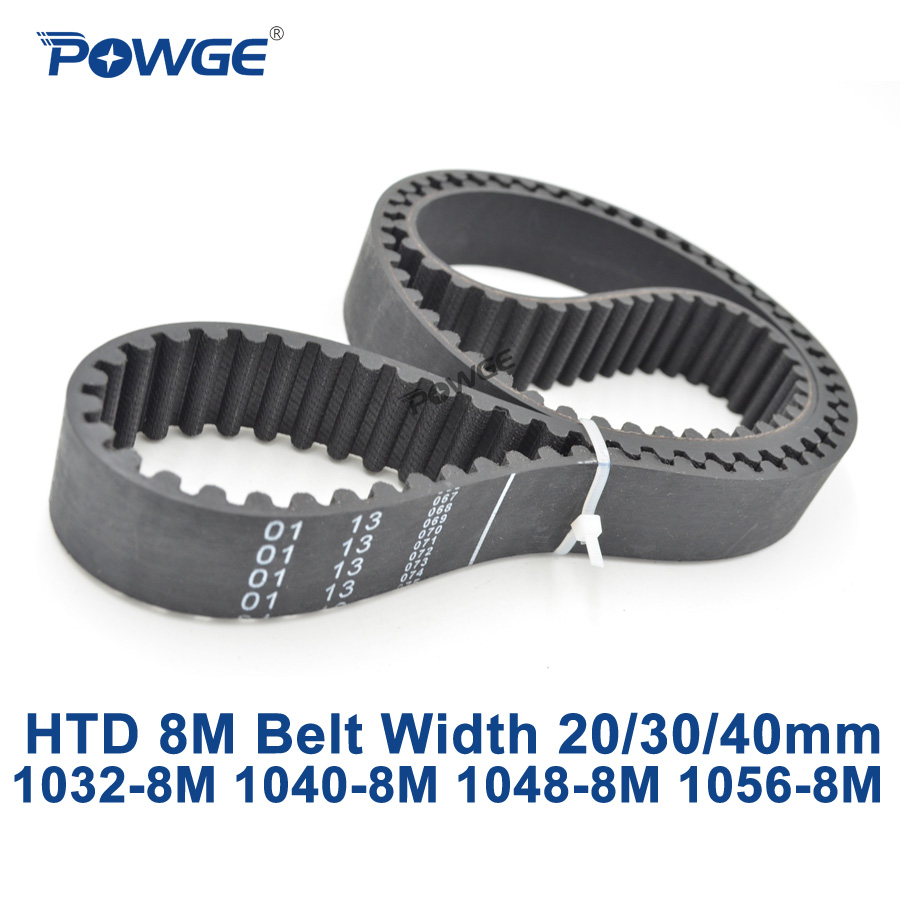 POWGE HTD 8 M courroie synchrone C = 1032/1040/1048/1056 largeur 20/30/40mm Dents 129 130 131 132 HTD8M 1032-8 M 1040-8 M 1056-8 M