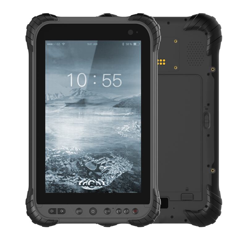 8 Polegada 4g lte android 8.1 usb tipo c 8000mha bateria removível comprimidos ásperos terminal de mão