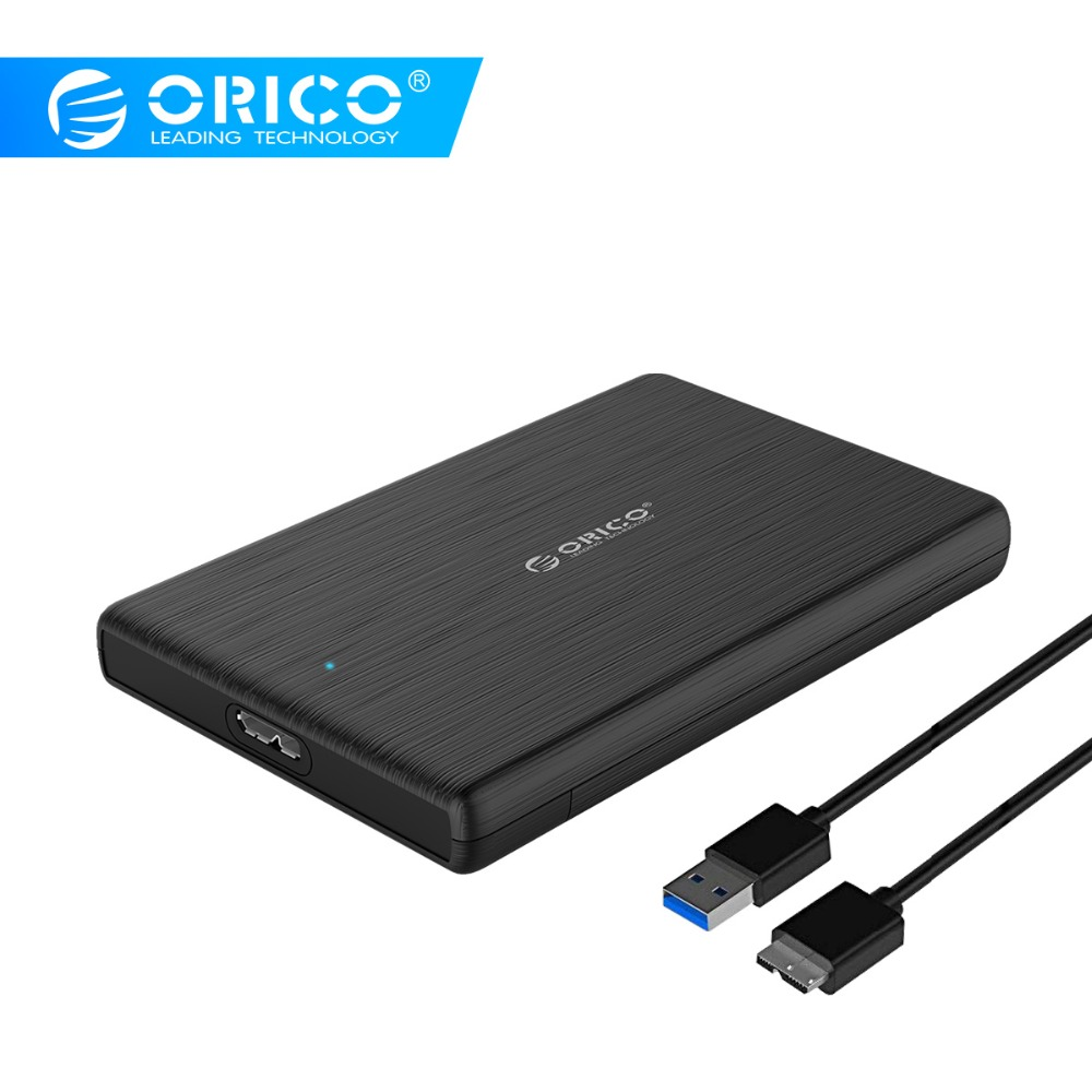 ORICO 2189U3 2 5 Inch HDD Case USB3 0 Micro B External Hard Drive Disk Enclosure High Speed Case for SSD Support UASP SATA III in HDD Enclosure from Computer Office