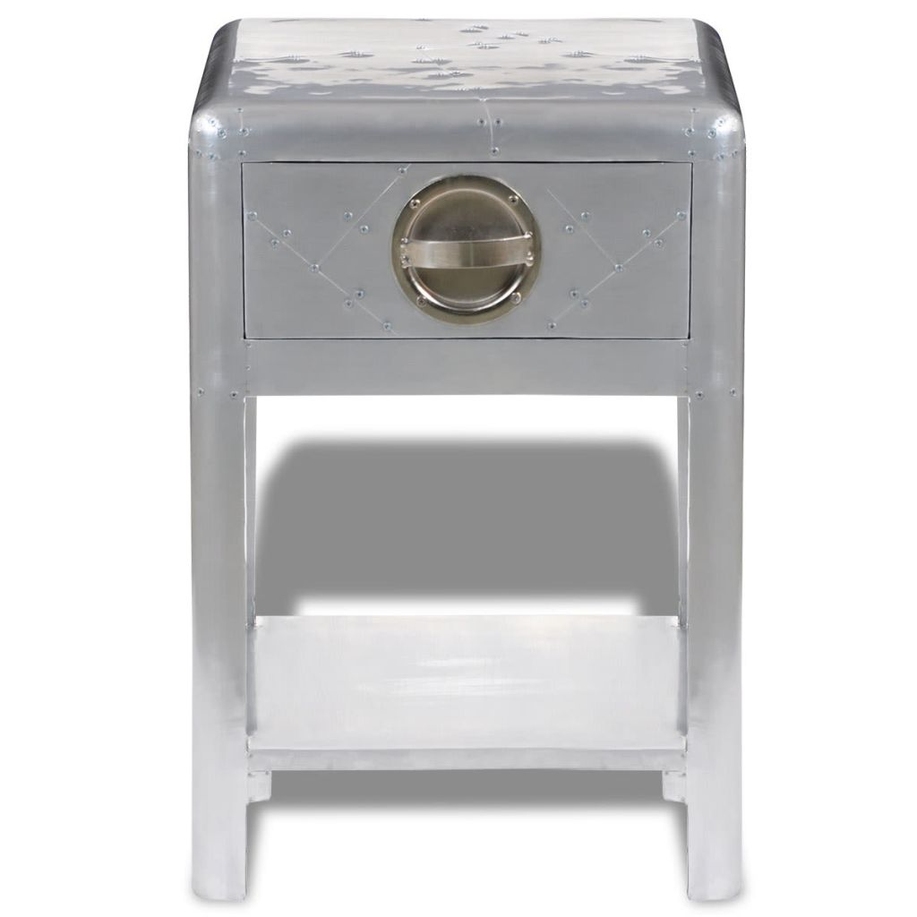 VidaXL Aviator Aluminum Side Table 1 Drawer Vintage Aircraft Airman In  Sideboards From Furniture On Aliexpress.com | Alibaba Group
