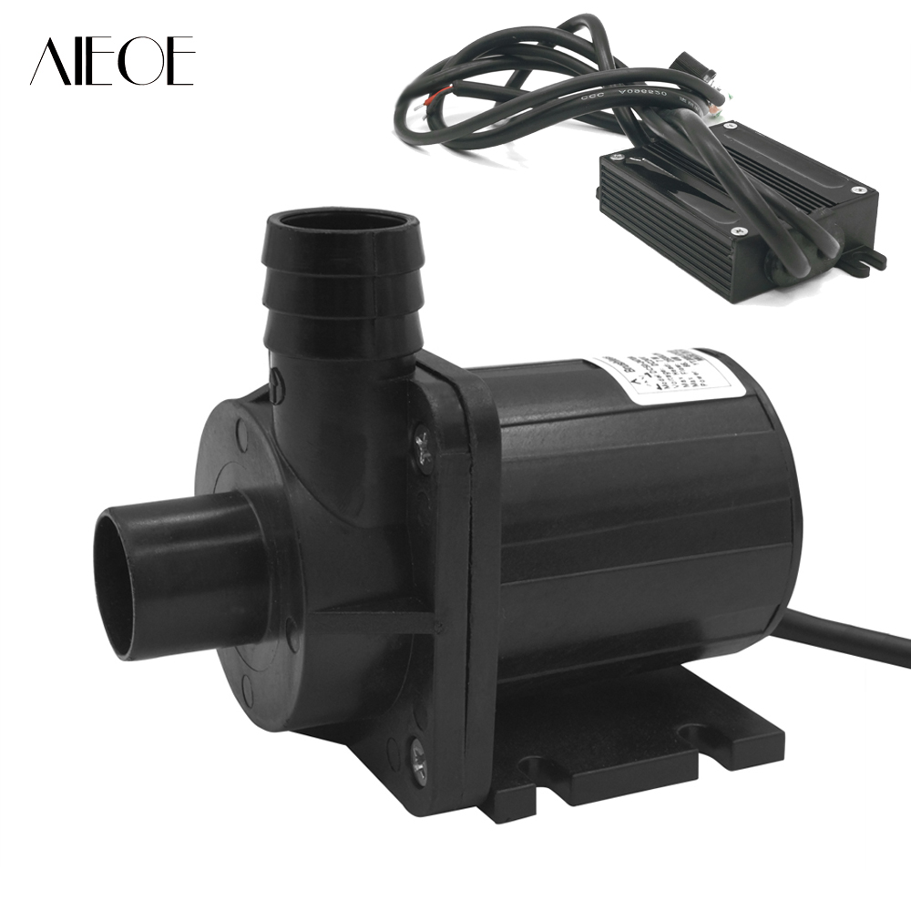 Adjustable DC 24V Large Flow Submersible Water Pump Swimming Pool Pump Solar Pump Hot Water Recirculating Pump 2500L/H 7 Meters 5pcs 24v speed adjustable solar water pump mini submersible water pump high temp 1800lph 13m for hot water circulation sys