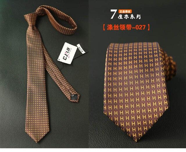 Узкий мужской галстук в полоску, новый дизайн  3