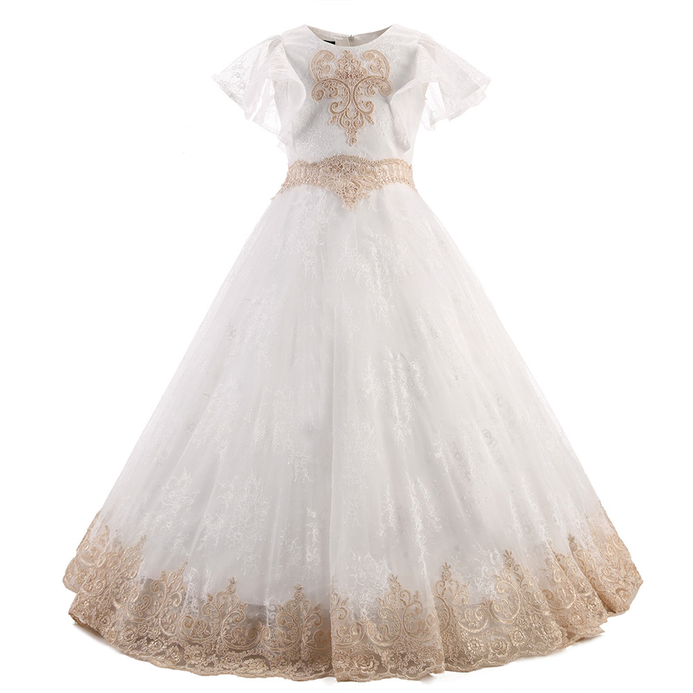 2019 Princess Dress With Soft Floral Lace Flower Girl Dress For Special Occasion Kids Pageant Gowns Formal Wears Real Picture2019 Princess Dress With Soft Floral Lace Flower Girl Dress For Special Occasion Kids Pageant Gowns Formal Wears Real Picture
